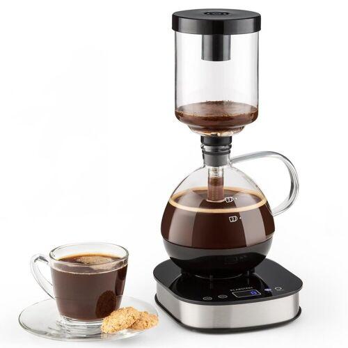 GASTRONOMA Siphon-Kaffeebrüher 16100122-Siphon-Kaffeemaschine-Vakuum-Kaffeebereiter-360° Basis-Display-Touchbedienung-500 Watt-Warmhaltefunktion- 0,50 Liter, 0.5l Kaffeekanne