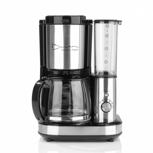 Barista Kaffeemaschine mit Mahlwerk, 1.2l Kaffeekanne, inkl. Glaskanne 1,2l