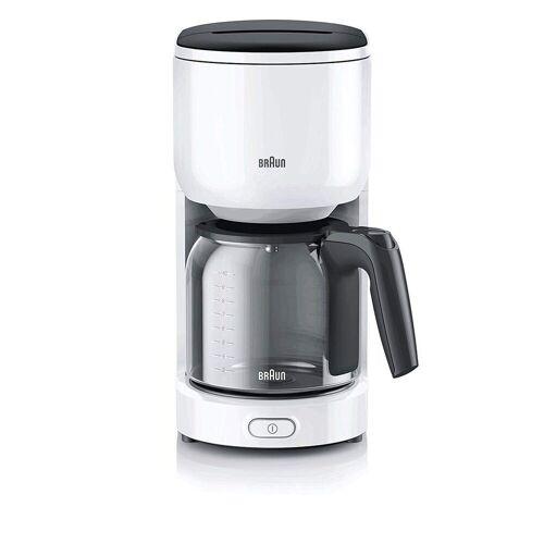 Braun Filterkaffeemaschine KF 3100 Filterkaffeemaschine weiß