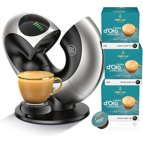 NESCAFÉ® Dolce Gusto® Kapselmaschine Eclipse EDG 736.S, mit 3 Packungen Dallmayr Crema d'Oro Caffè Latte.