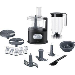 Braun Küchenmaschine mit Kochfunktion FP 5150, 1000 W, 2 l Schüssel, schwarz