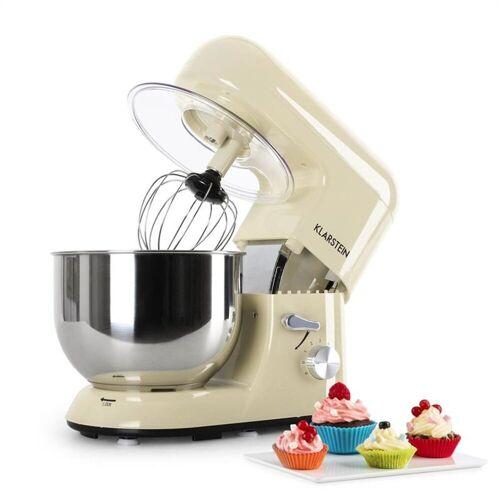 Klarstein Küchenmaschine Bella Morena Küchenmaschine, 1200W 1,6 PS, 5 Liter, 1200 W, Creme
