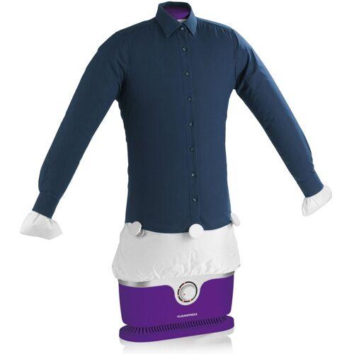CLEANmaxx Clean Maxx Hemden- & Blusenbügler, für Hemden & Blusen + Bügler-Aufsatz für Hosen, 1800 Watt, violett