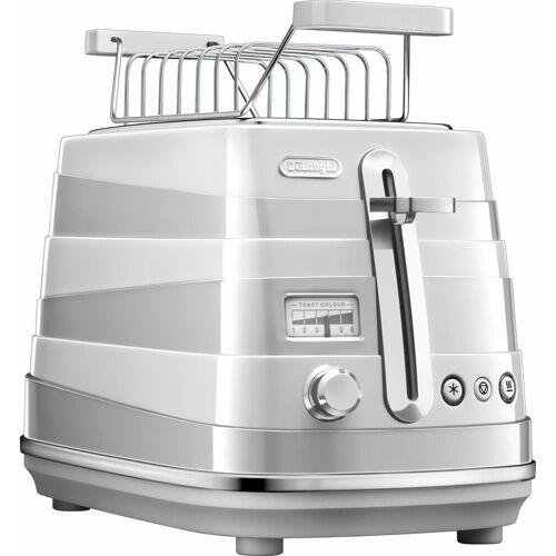 DeLonghi Toaster Avvolta CTA 2103.W, 2 kurze Schlitze, für 2 Scheiben, 900 W