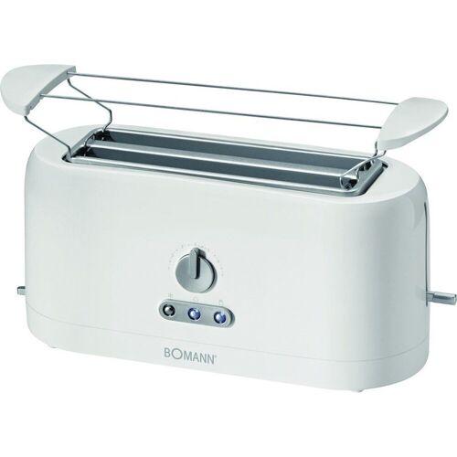 BOMANN Toaster TA 245 CB Toaster Zweischlitztoaster weiß