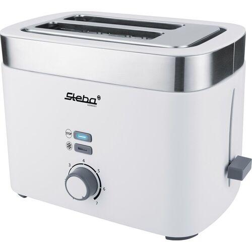 Steba Toaster TO 10 Bianco, 2 kurze Schlitze, 930 W