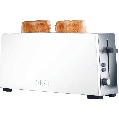 Graef Toaster Langschlitztoaster TO 91, weiß, 1 langer Schlitz, 880 W