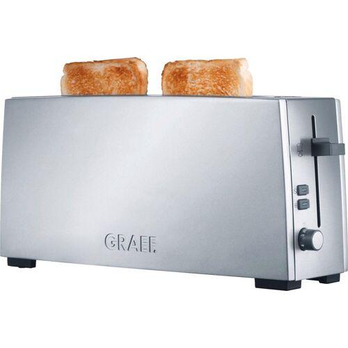 Graef Toaster Langschlitztoaster TO 90, silber, 1 langer Schlitz, 880 W