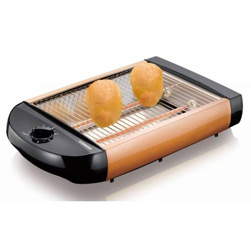 MELISSA Toaster 16140130 Flach-Toaster Brötchen-Röster, kupfer-farben, 600 W