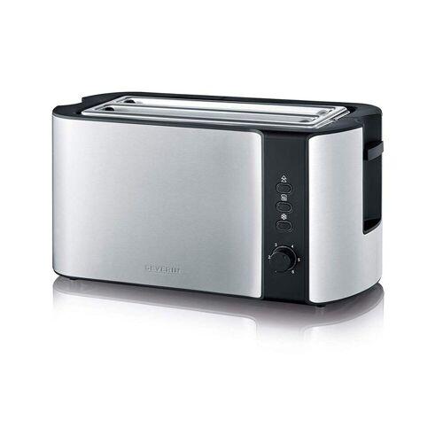 Severin Toaster AT2590 Langschlitztoaster Edelstahl/schwarz