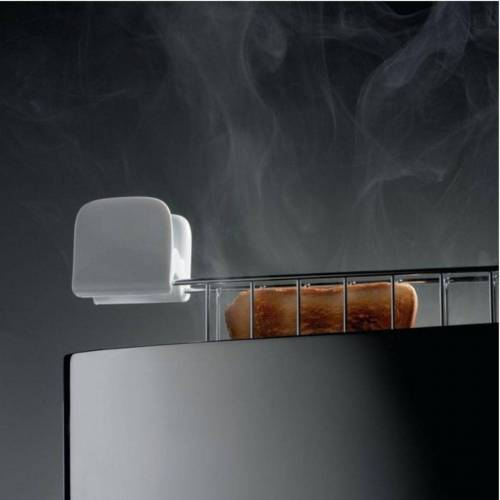 Alessi Toaster Toaster mit Brötchenaufsatz Edelstahl