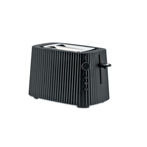 Alessi Toaster Toaster Plissé - Farbwahl, Europäischer Stecker, Elektrische Leistung 850 Watt, Schwarz