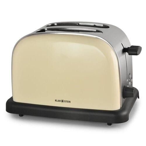 Klarstein Toaster BT-318-C Toaster 2-Scheiben Edelstahl 1000W creme, 2 kurze Schlitze, 1000 W