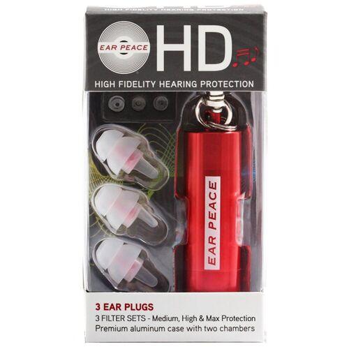 Earpeace Gehörschutzstöpsel »HD Gehörschutz Ohrstöpsel Rot«