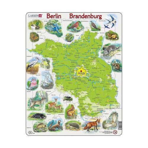 Larsen Puzzle »Rahmen-Puzzle, 62 Teile, 36x28 cm, Karte Berlin /«, Puzzleteile