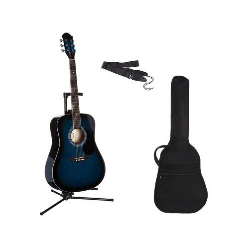 Gitarrenset »Westerngitarre« 4/4, mit Tasche und Gitarrengurt, blau