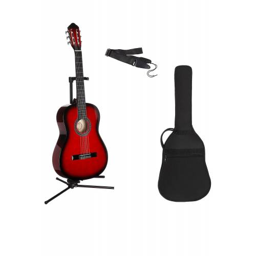 Gitarrenset »Konzertgitarre« 1/4, inkl. Gitarrentasche und Gitarrengurt, rot