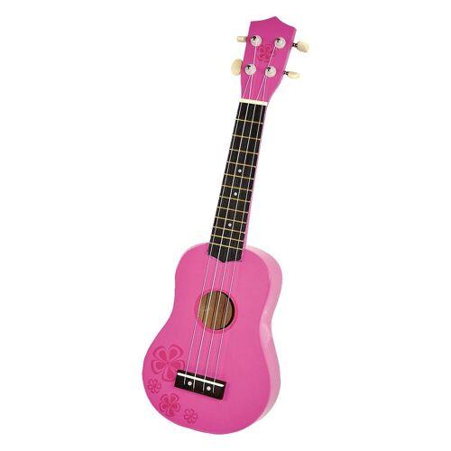 Voggenreiter Saiten »Kindergitarre Holz Natur (Ukulele) 54 cm«, pink