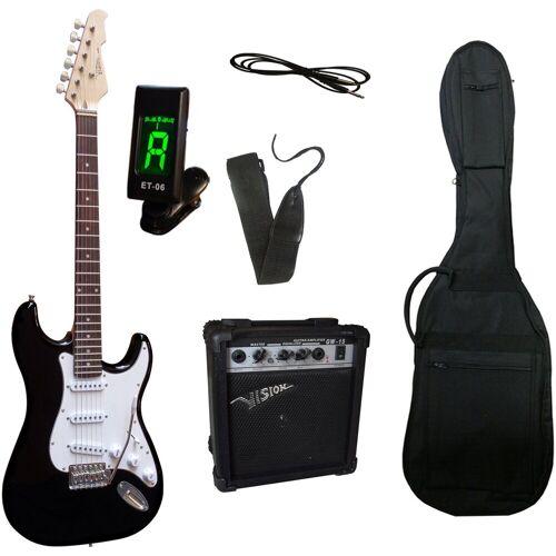 Gitarrenset »E-Gitarre - ready to go«, inkl. Verstärker, Gitarrentasche, Gitarrengurt, Klinkenkabel, schwarz