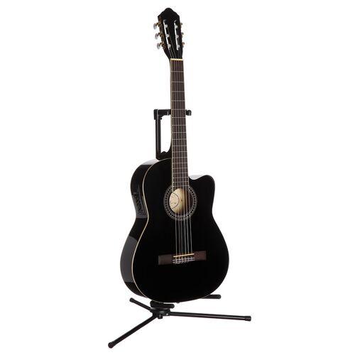 Konzertgitarre »Jose Ribera® Konzertgitarre 4/4 mit Equalizer« 4/4, schwarz