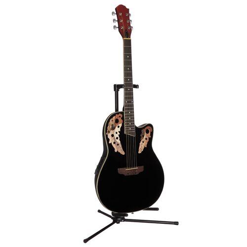 Akustikgitarre »Roundbackgitarre 4/4 mit Equalizer« 4/4, schwarz