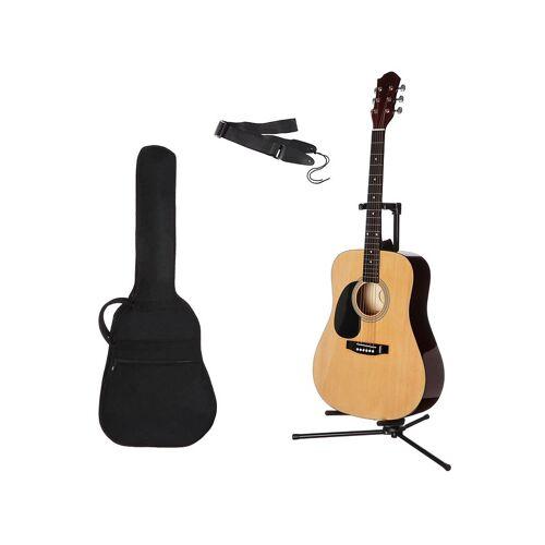 Gitarrenset »Westerngitarre« 4/4, mit Tasche und Gitarrengurt, natur