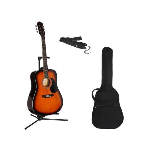 Gitarrenset »Westerngitarre« 4/4, mit Tasche und Gitarrengurt, sunburst