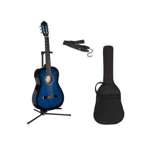 Gitarrenset »Konzertgitarre« 1/4, inkl. Gitarrentasche und Gitarrengurt, blau