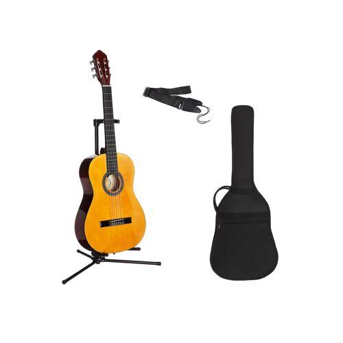 Gitarrenset »Konzertgitarre« 1/4, inkl. Gitarrentasche und Gitarrengurt, natur