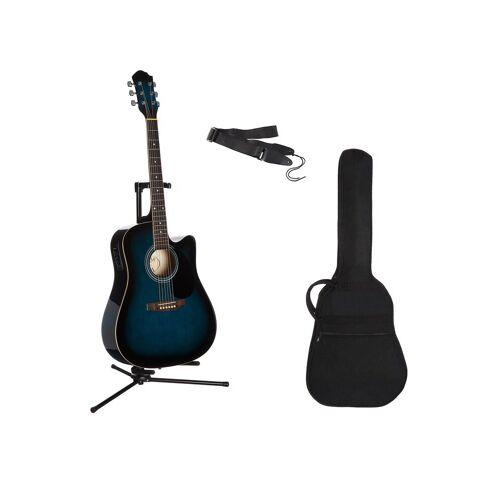 Westerngitarre »4/4«, mit Equalizer und Zubehör, blau