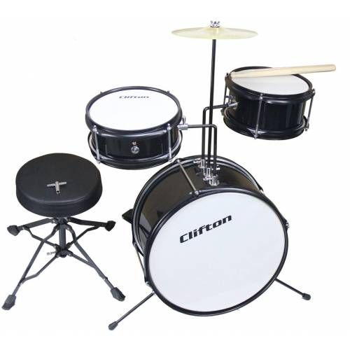 Clifton Kinderschlagzeug »Junior Drum, schwarz« (3-tlg)