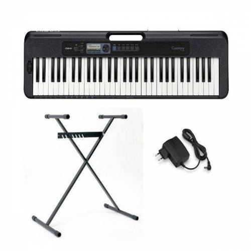 Casio Keyboard »tone CT-S300«, (Set, 2 tlg), inkl. Keyboardstativ