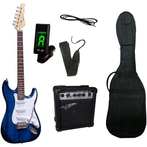 Gitarrenset »E-Gitarre - ready to go«, inkl. Verstärker, Gitarrentasche, Gitarrengurt, Klinkenkabel, blau