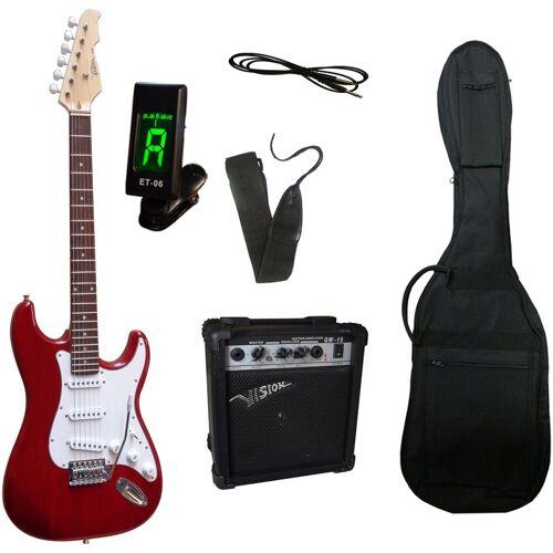 Gitarrenset »E-Gitarre - ready to go«, inkl. Verstärker, Gitarrentasche, Gitarrengurt, Klinkenkabel und Stimmgerät, rot