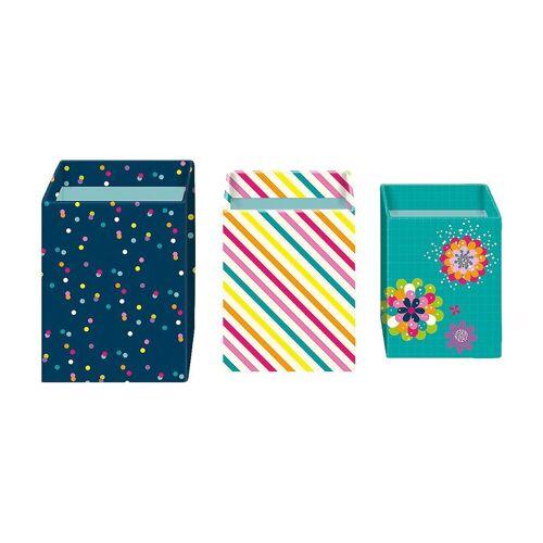 moses Dekokorb »Stifteköcher 3er Set Flower & Dots«