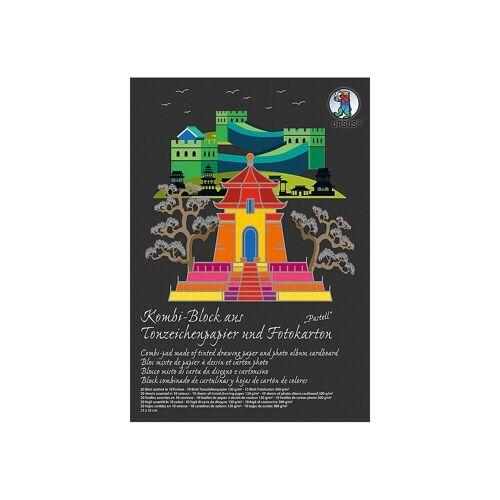 URSUS Papierdekoration »Kombi-Block 23 x 33 cm - 20 Blatt Tonpapier +«