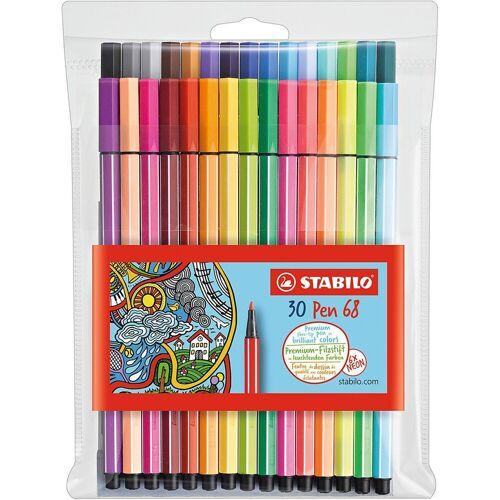 STABILO Filzstift »Filzstifte Pen 68 NEON, 24 & 6 Farben«