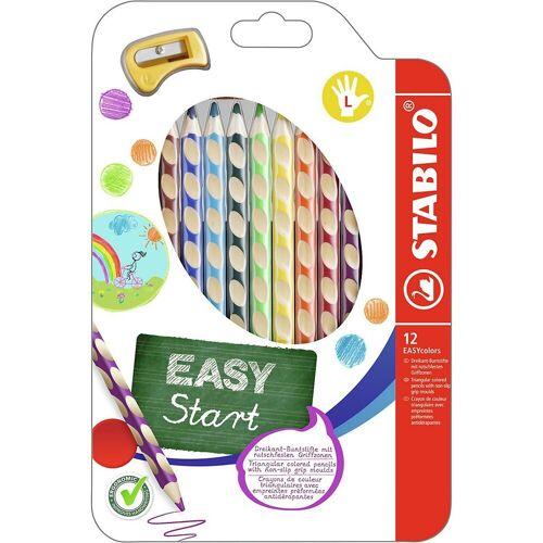 STABILO Buntstift »Buntstifte EASYcolors Linkshänder, 12 Farben,«