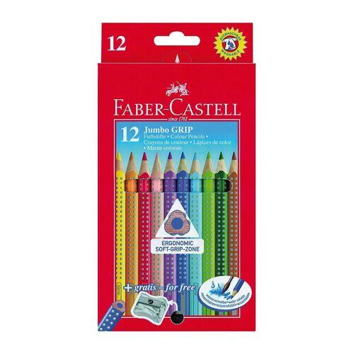 Faber-Castell Buntstift »Buntstifte JUMBO GRIP wasservermalbar, 12 Farben,«