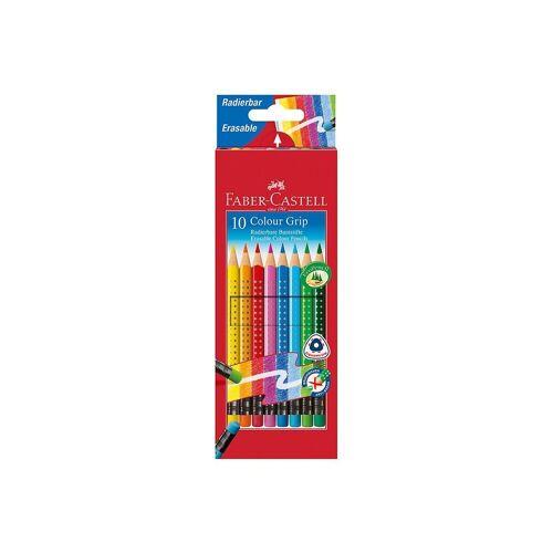 Faber-Castell Buntstift »Buntstifte COLOUR GRIP Buntstifte radierbar, 10«