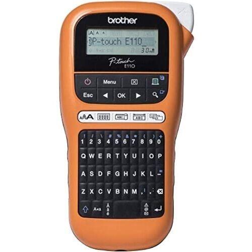 Brother Beschriftungsgerät »P-touch PT-E110VP - Beschriftungsgerät - orange/schwarz«