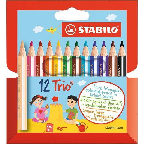 STABILO Buntstift »Dreikant-Buntstifte Trio dick kurz, 4,2 mm, 12«