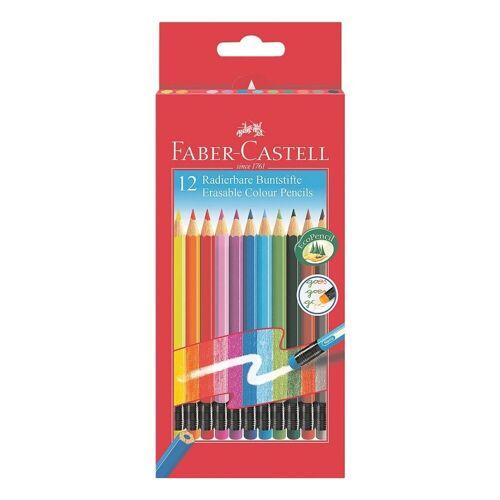 Faber-Castell Buntstift »radierbar«, (12-tlg), mit Radiertip