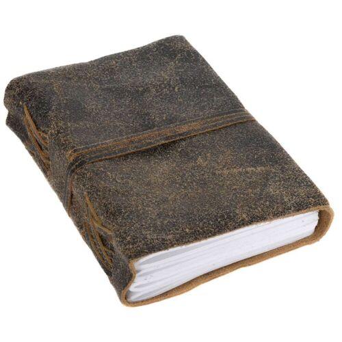 Gusti Leder Notizbuch »Lina«, Buch Notizbuch Tagebuch DIN A6 Braun Leder
