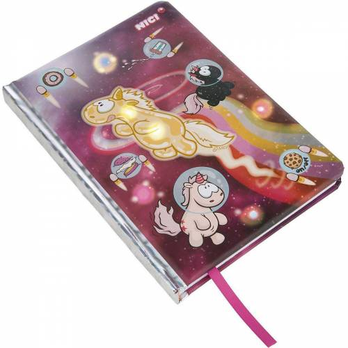 Nici Notizbuch »LED-Notizbuch A5 Theodor & Friends«