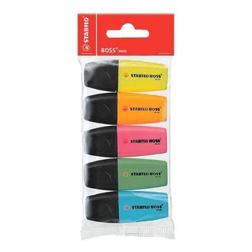 STABILO 5er-Pack Textmarker »Mini«, bunt
