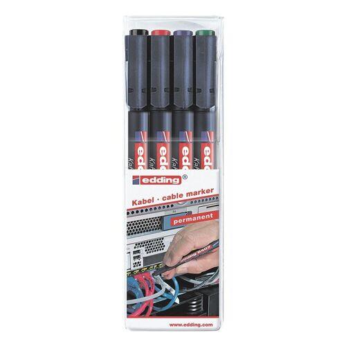 EDDING 4er-Pack Kabelmarker »8407«, mehrfarbig