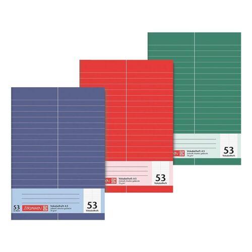 BRUNNEN Vokabelheft A5 liniert (Lineatur 53) »1043935«, mehrfarbig
