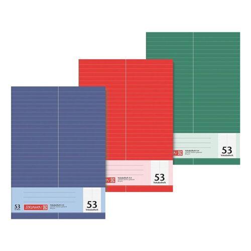 BRUNNEN Vokabelheft A4 liniert (Lineatur 53) »1043725«, mehrfarbig