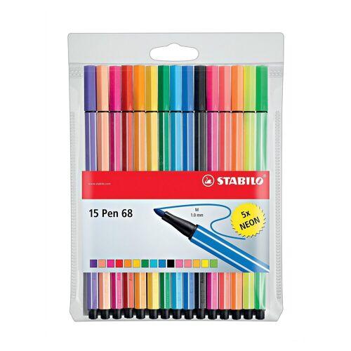 STABILO Filzstifte Pen 68 NEON, 10 & 5 Farben